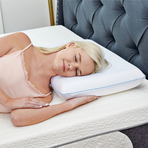reversible cool gel memory foam pillow by classic brands